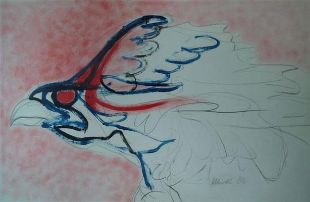 "Greifvogel V ""Firebird"" I Öl auf Karton - 100 x 65 cm"