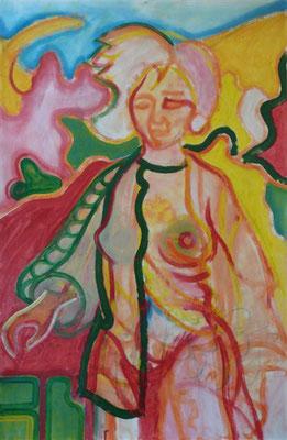Lucette, femme du midi I Öl auf Karton - 70 x 100 cm
