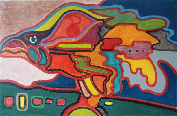 Greifvogel 2 I Öl auf Karton - 100 x 65 cm