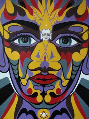 Selbstbuddha I Öl auf Karton - 70 x 100 cm