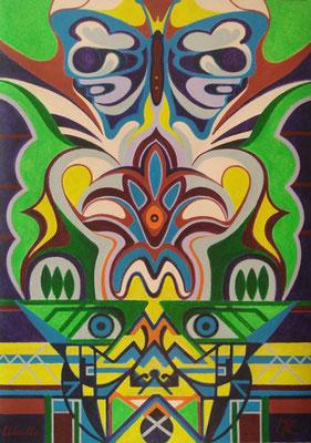 Minou I Acryl auf Karton - 70 x 100 cm