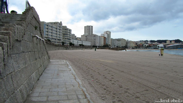 Strand Playa del Orzan und Playa de Riazor