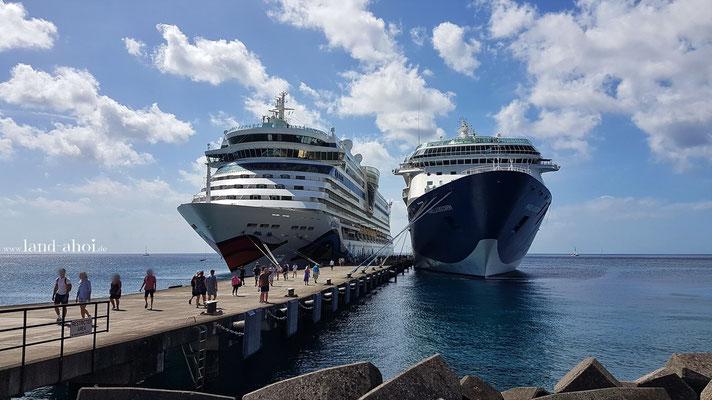 Grenada Kreuzfahrt Hafen AIDAdiva und TUI Marella Discovery