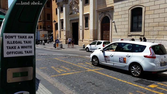 Offizielles römisches Taxi