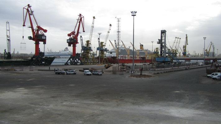 Casablanca Liegeplätze direkt im Frachthafen