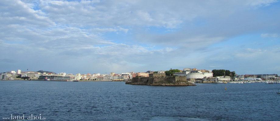 A Coruna Hafeneinfahrt