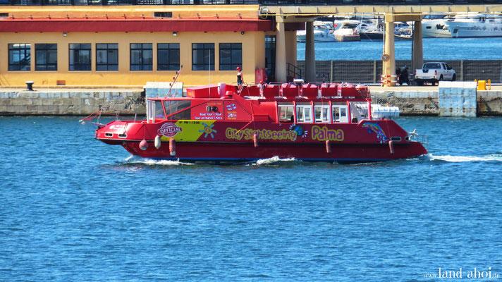 Sightseeing Boot im Kreuzfahrthafen