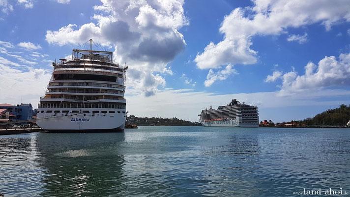 Kreuzfahrt Hafen Castries