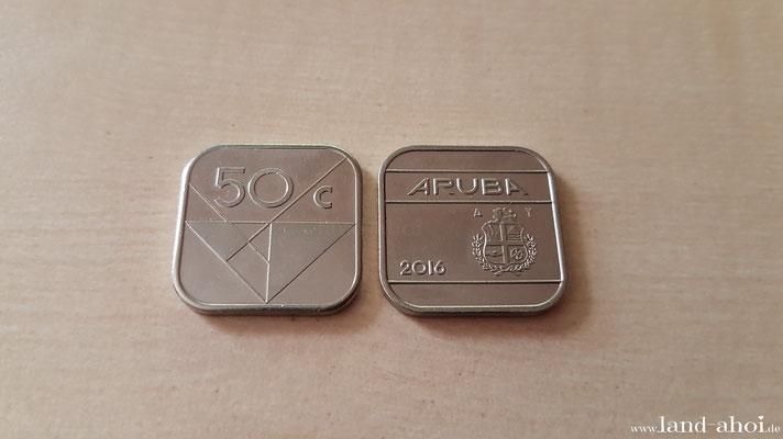 Aruba Oranjestad 50 Cent Münze