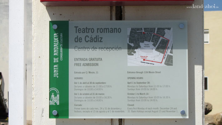 Cádiz Teatro Romano (versteckter) Eingang