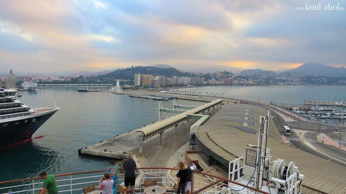 Malaga Hafen AIDA Liegeplatz