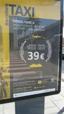 Barcelona Taxikosten