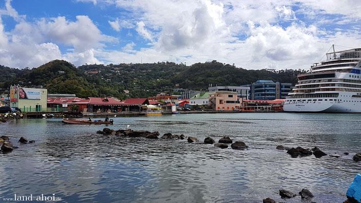 Castries  am Hafen