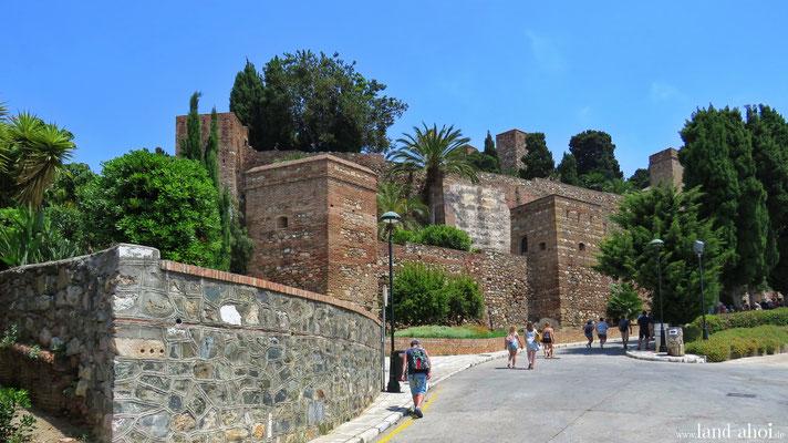 Weg zur Burg Gibralfaro