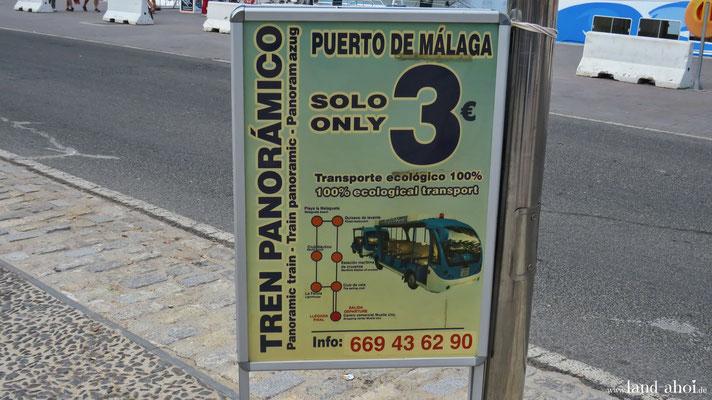 Malaga Muelle Uno Hafen Shuttle