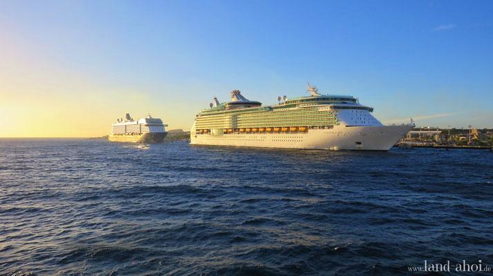 Navigator of the Seas und Mein Schiff 3 in Willemstad