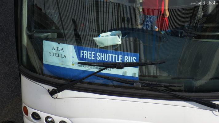 Civitavecchia Shuttlebus für AIDAstella