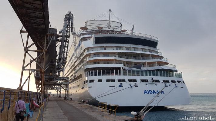 Barbados Hafen AIDAdiva