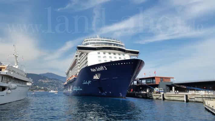 Monaco Liegeplatz der Kreuzfahrtschiffe