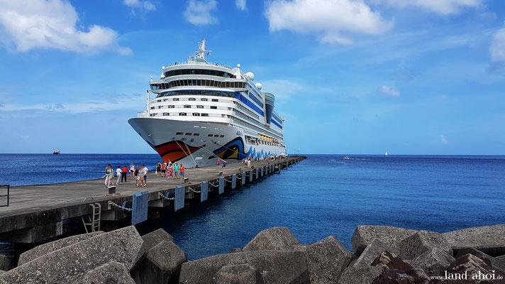 Grenada Kreuzfahrt Hafen AIDAdiva
