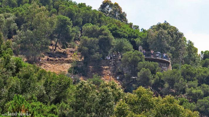Weg zur Burg Gibralfaro Aussichtsterrasse