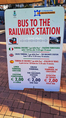 Shuttlebus Largo Della Pace - Bahnhof Civitavecchia