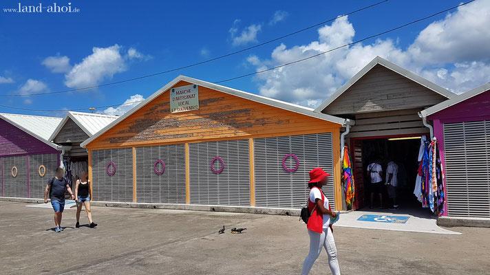 Marktplätze am Liegeplatz Pointe Simon