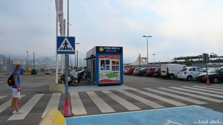 Malaga Hafen Mietwagenverleih