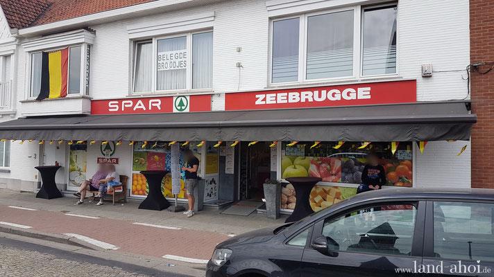 Zeebrügge Spar Laden - Hier sind die Lijn Tageskarten erhältlich.
