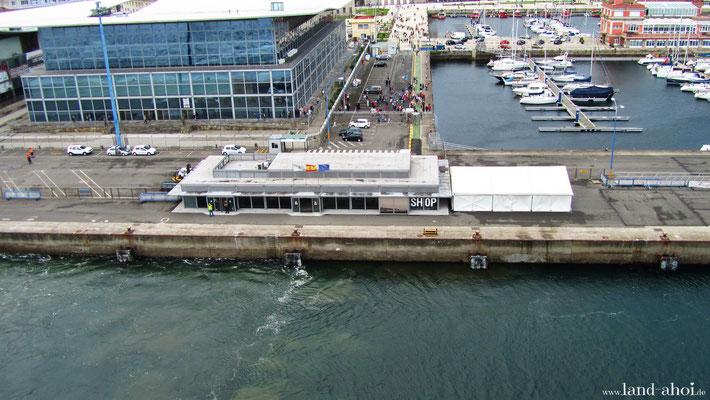 A Coruna Hafen Liegeplatz und Cruise Terminal
