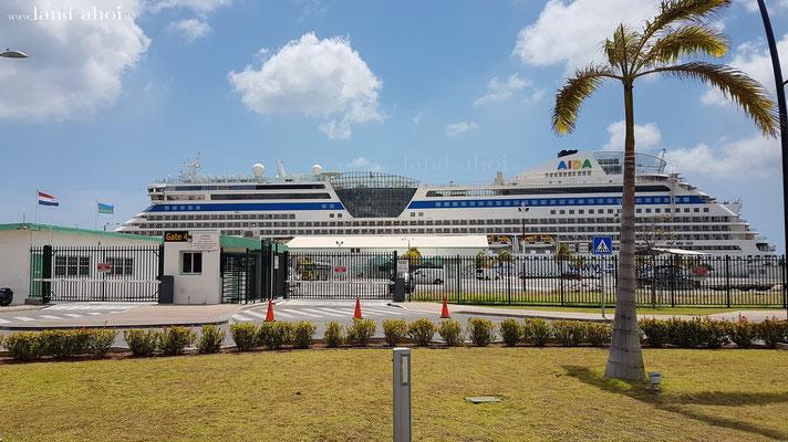 Aruba Oranjestad Hafenausgang