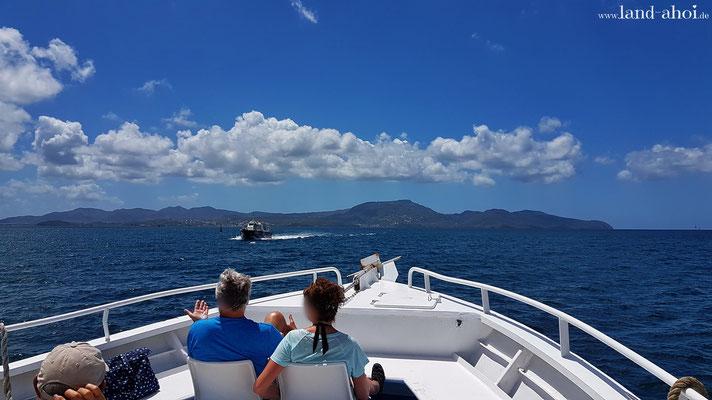 Überfahrt zum Strand Anse à l'Ane