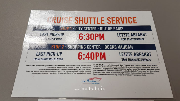 Shuttle Service Le Havre