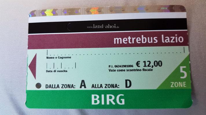 BIRG Ticket Vorderseite