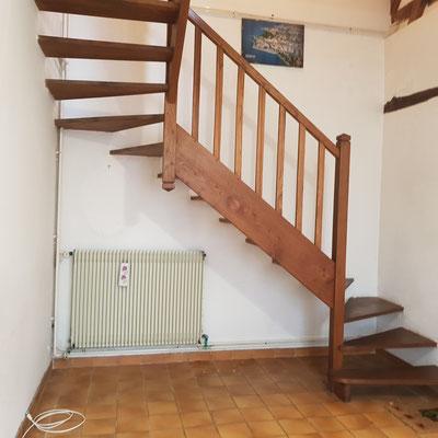 Avant travaux, pose d'un toilette sous l'escalier