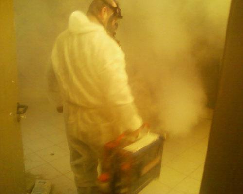 Foggen von Gebäuden 2  gegen Schimmel und Bakterien  ABTEC Köln Bonn Düsseldorf