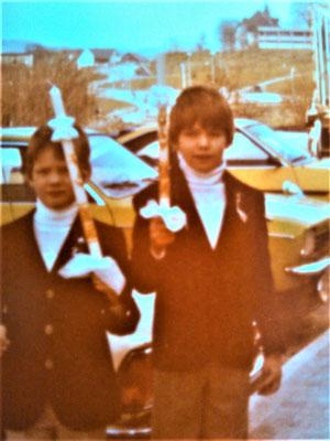 Erstkommunion zusammen mit meinem Bruder