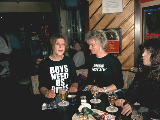 Ich, Sammy und Jenny (von links nach rechts) beim Moderatorentreffen des Transtreff