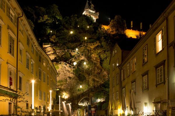 Grazer Schlossberg mit Kriegssteig