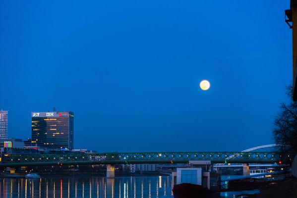 Mond über der Donau