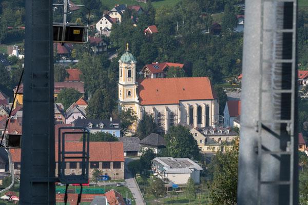 Blick von der Mittelstation nach Mautern
