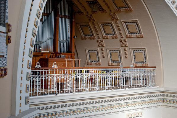 Blick zur Orgel Empore