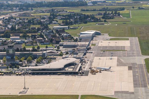Flugplatz Graz von Norden.