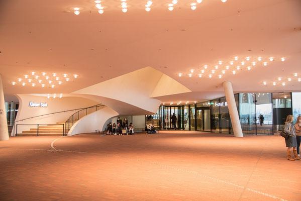 Elbphilharmonie Zugang zu den Konzertsäälen