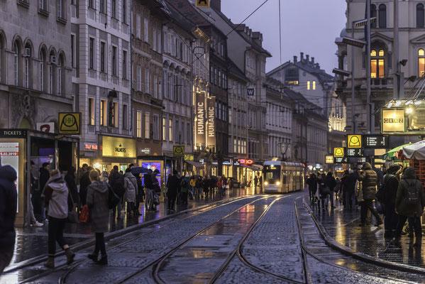 Hauptplatz Richtung Herrengasse Graz