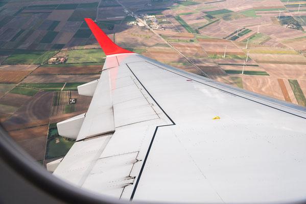 Abflug in Wien mit der Embraer 195