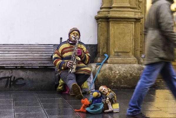 Straßenmusiker in der Herrengasse Graz