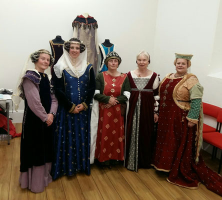 Catherine Bowness (left), Katrina Wood and the Stepping Through Time group