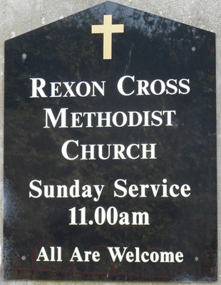 Sign on chapel in 2013