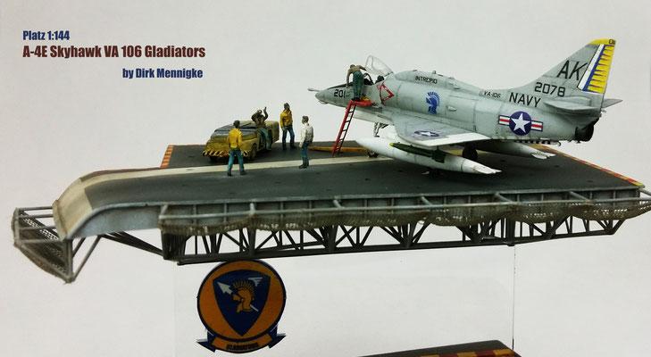 A 4E Skyhawk VA106 Gladiators 1:144 Platz by Dirk Mennigke